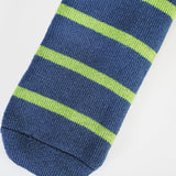 Comfort Bed Socks - Denim & Apple Stripe