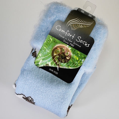 Comfort Bed Socks - Powder Blue Sheep
