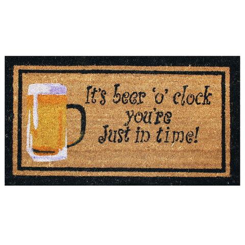 Coir Doormat - It's Beer O'Clock