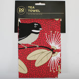 Tea Towel - Flirting Fantails - Red