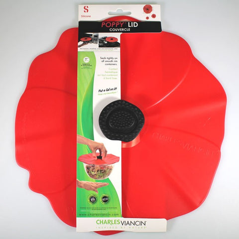 Charles Viancin 28cm Silicone Poppy Lid for Smooth-rimmed Bowls or Pots
