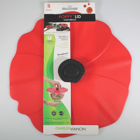 Charles Viancin 23cm Silicone Poppy Lid for Smooth-rimmed Bowls or Pots