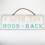 'I Love You...' Plaque Sign