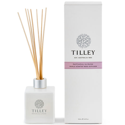 Tilley Reed Diffuser - Patchouli and Musk - 150ml