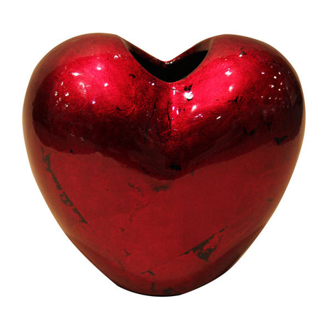 Red Mottle - Heart Vase - 14cm