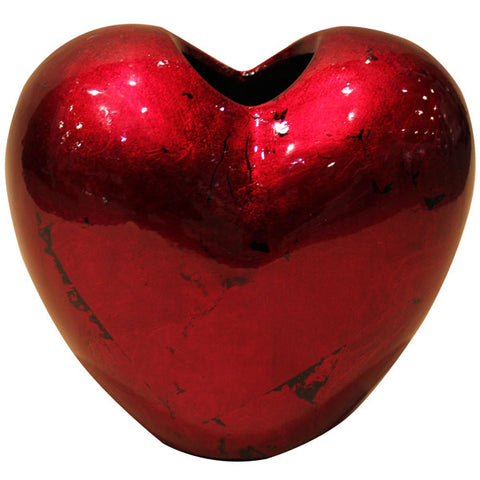 Red Mottle - Heart Vase - 30cm