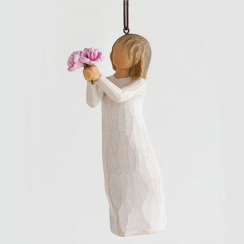 Willow Tree - Hanging Ornament - Thank You with Peonies