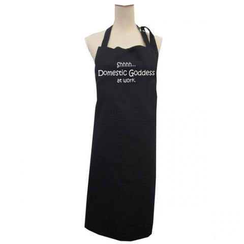 Domestic Goddess at Work Apron - Black