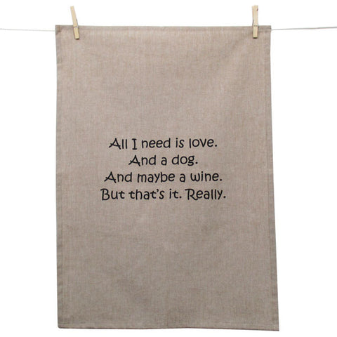 Tea Towel - All I Need is Love