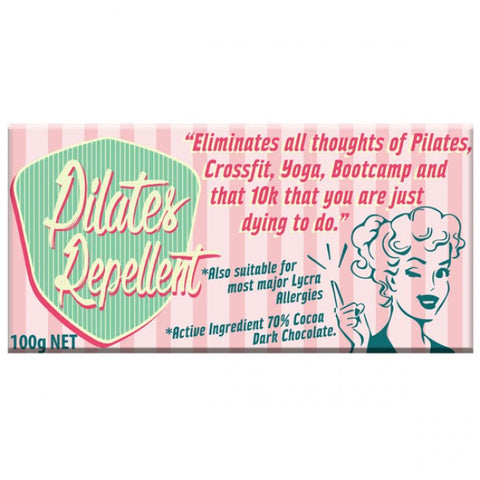 Bloomsberry & Co 'Pilates Repellent' Dark Chocolate Bar