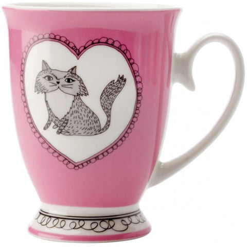 Maxwell & Williams - Purrfect Cat Mug - Purple/Pink
