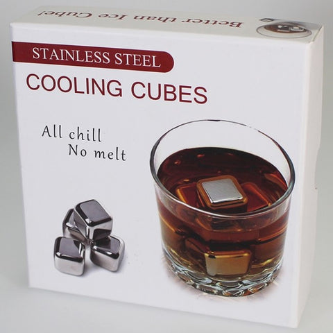 Whiskey Stones - Stainless Steel Whiskey Cooling Cubes