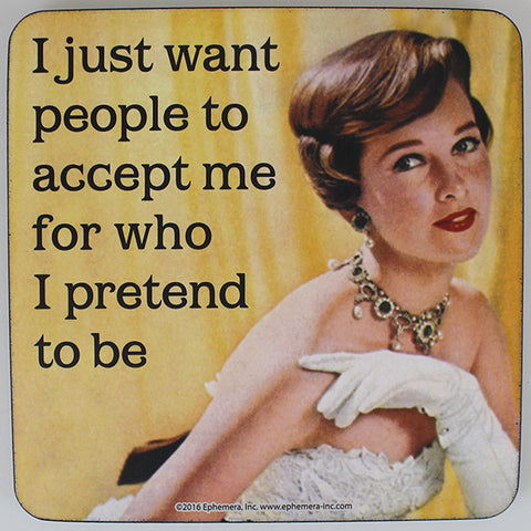Retro Sarcasm - 'I Just Want People...' Coaster