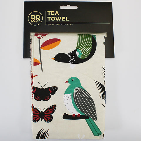Tea Towel - Native New Zealand Flora and Fauna