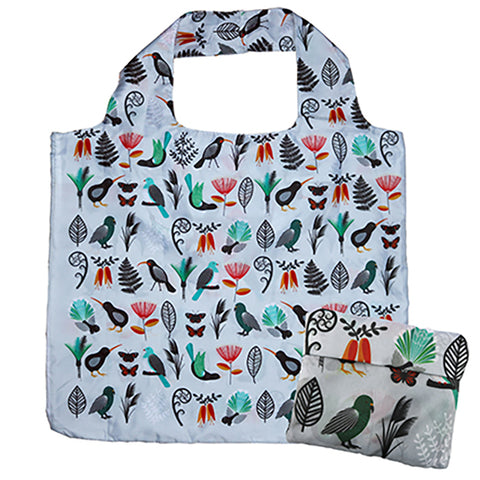Reusable Folding Bag - Native New Zealand