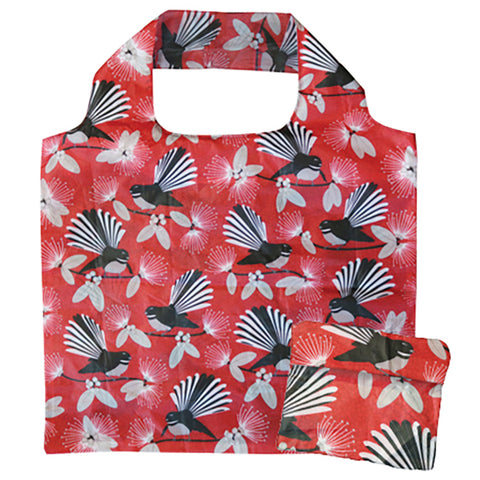 Reusable Folding Bag - Flirting Fantail
