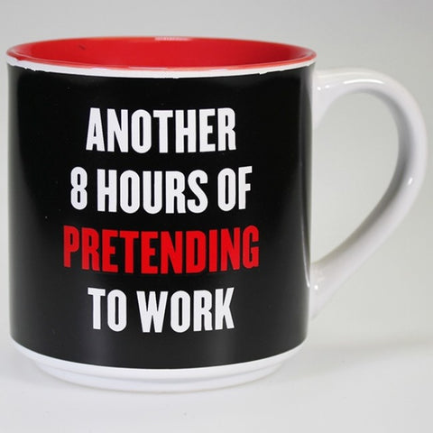 Boxed Mug - 'Another 8 Hours of Pretending to Work'