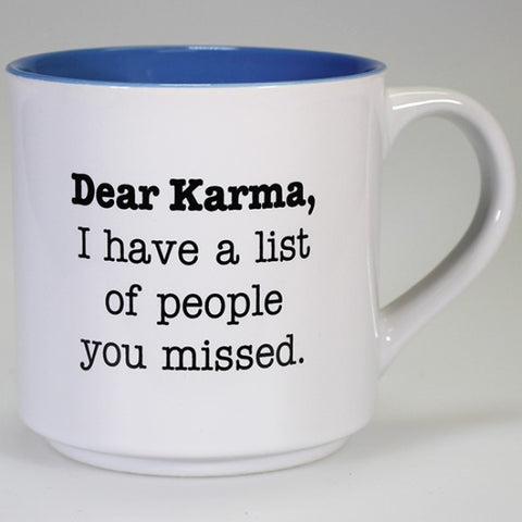 Boxed Mug - 'Dear Karma, I have a List of People You Missed'