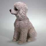 Sitting White Poodle Figurine