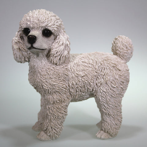 Small White Standing Poodle Figurine