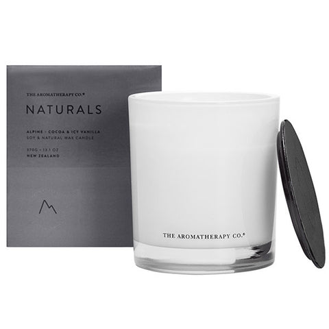 The Aromatherapy Company - Naturals - Alpine Candle - Cocoa and Icy Vanilla