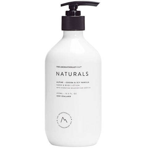 The Aromatherapy Company - Naturals - Alpine Hand and Body Lotion - Cocoa and Icy Vanilla