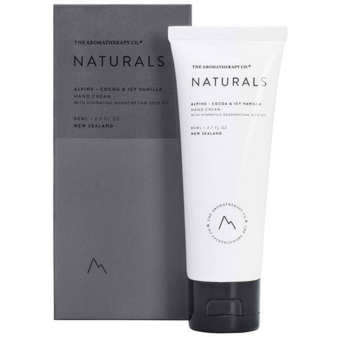 The Aromatherapy Company - Naturals - Alpine Hand Cream - Cocoa and Icy Vanilla