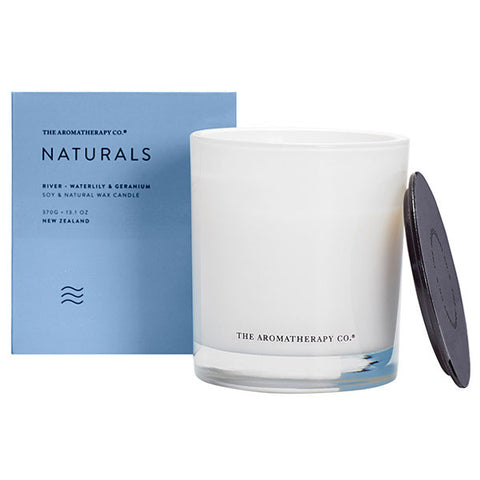 The Aromatherapy Company - Naturals - River Candle - Waterlily and Geranium