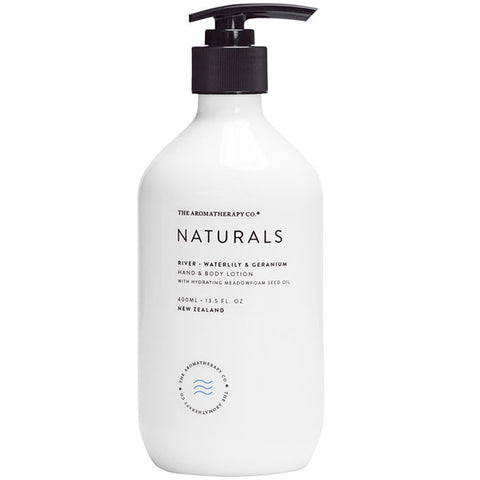 The Aromatherapy Company - Naturals - River Hand and Body Lotion - Waterlily and Geranium