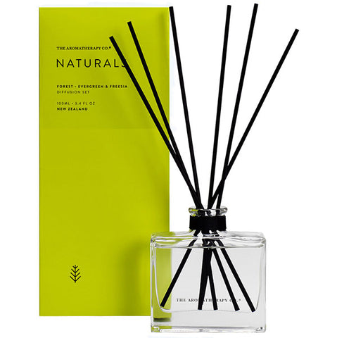 The Aromatherapy Company - Naturals - Forest Diffuser Set - Evergreen and Freesia
