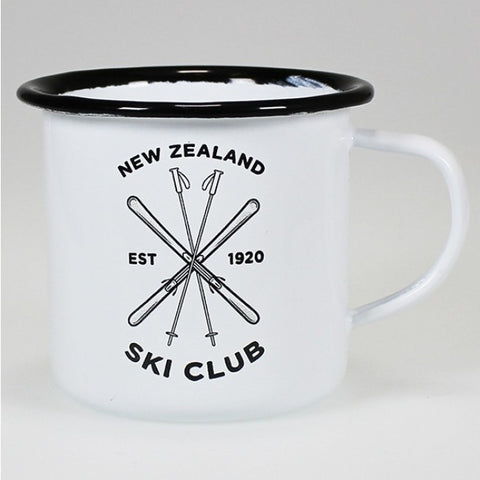 Moana Rd. - New Zealand Ski Club - Enamel Mug - 10cm