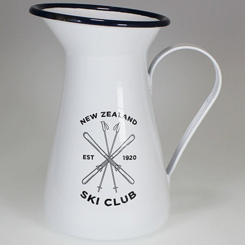 Moana Rd. - New Zealand Ski Club - Enamel jug - 20cm