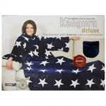 Kanguru Blanket with Sleeves and a Pouch - Blue with Stars