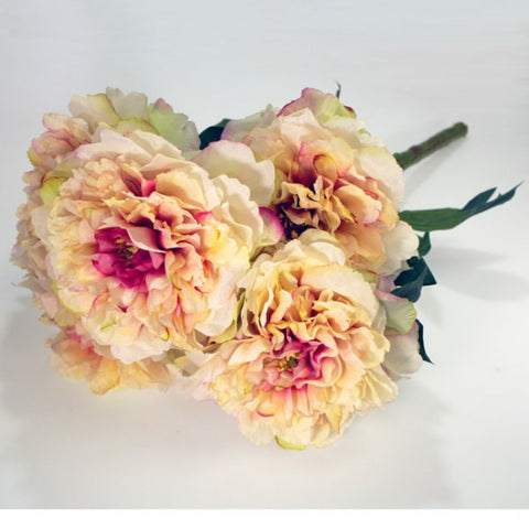 Artificial Flowers - Peony Bunch - Dark Pink Flowers