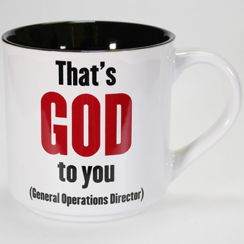 Boxed Mug - 'That's GOD to You - (General Operations Director)'