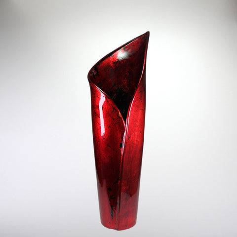 Red Mottle - Lily Vase - Medium