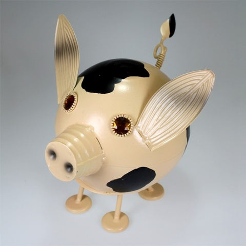Tin Bobble Head Pig