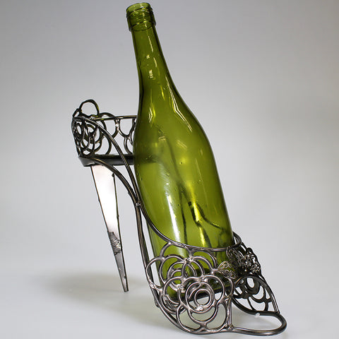 Stilhetto Wine Holder Sculpture