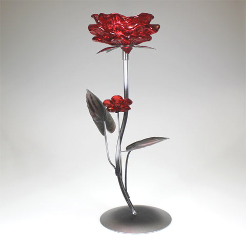 Single Red Flower Candlestand