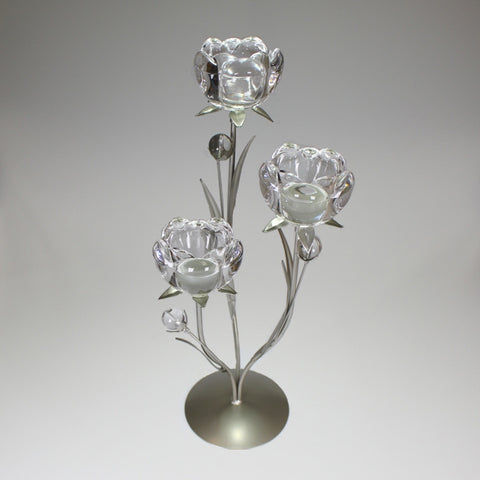 Triple Floral Candle Holder