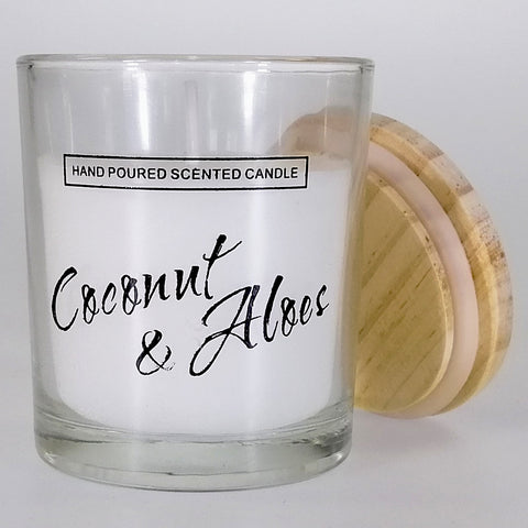 Small Glass Candle - Coconut & Aloe