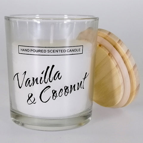 Small Glass Candle - Vanilla & Coconut