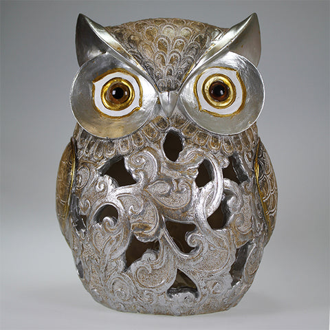 Owl with LED Lights Decor (22cm)