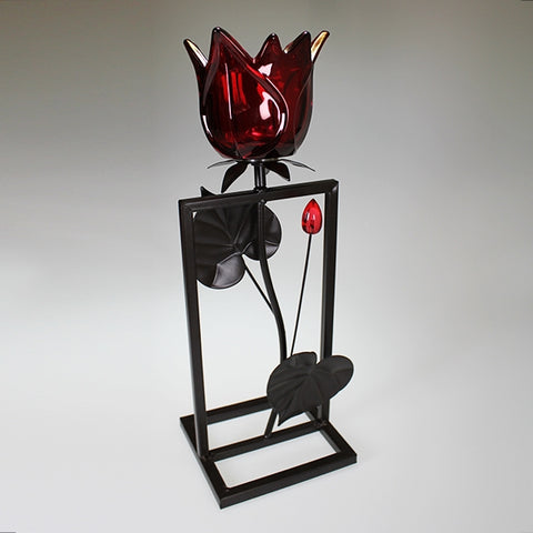 Single Red Tulip Candlestand