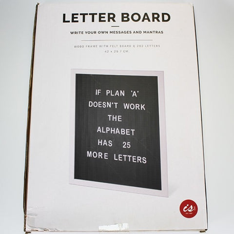 Letter Board - for Menus, Notices, Events and Fun