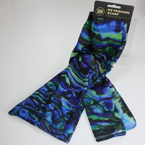 NZ Fashion Scarf - Paua - 85cm