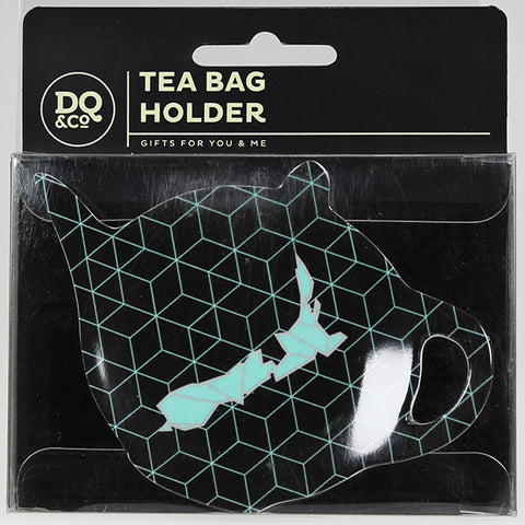 Tea Bag Holder - Geometric Map of New Zealand