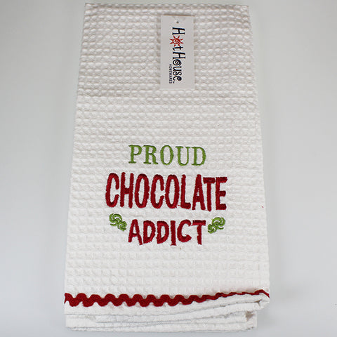 Tea Towel - 'Proud Chocolate Addict'