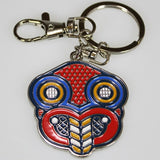 Embossed Kiwiana Metal Keyring - 'Pop Art Style' Tiki