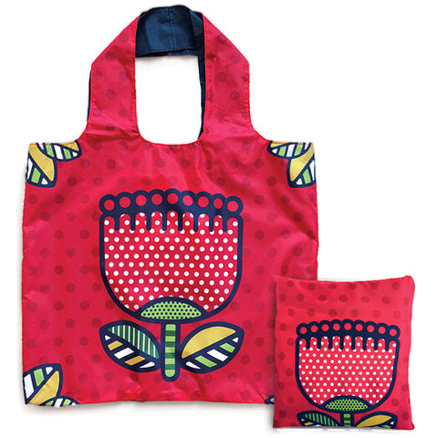 Reusable Folding Bag - Pop Pohutukawa